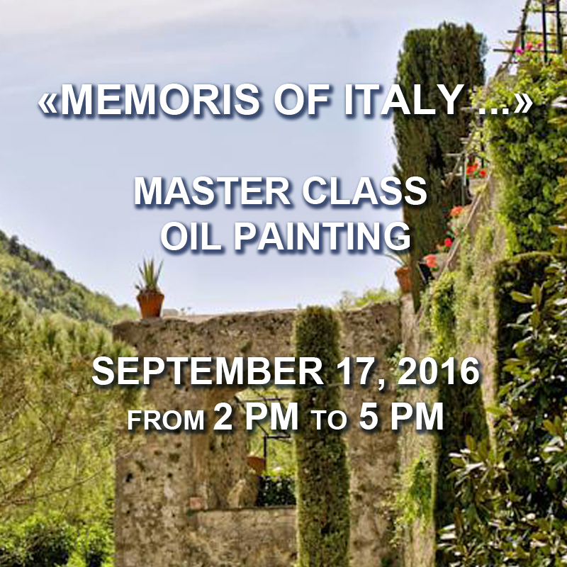 Oil Painting Master Class, Sep 17 2016